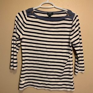 Lauren Ralph Lauren Striped Long Sleeve Shirt